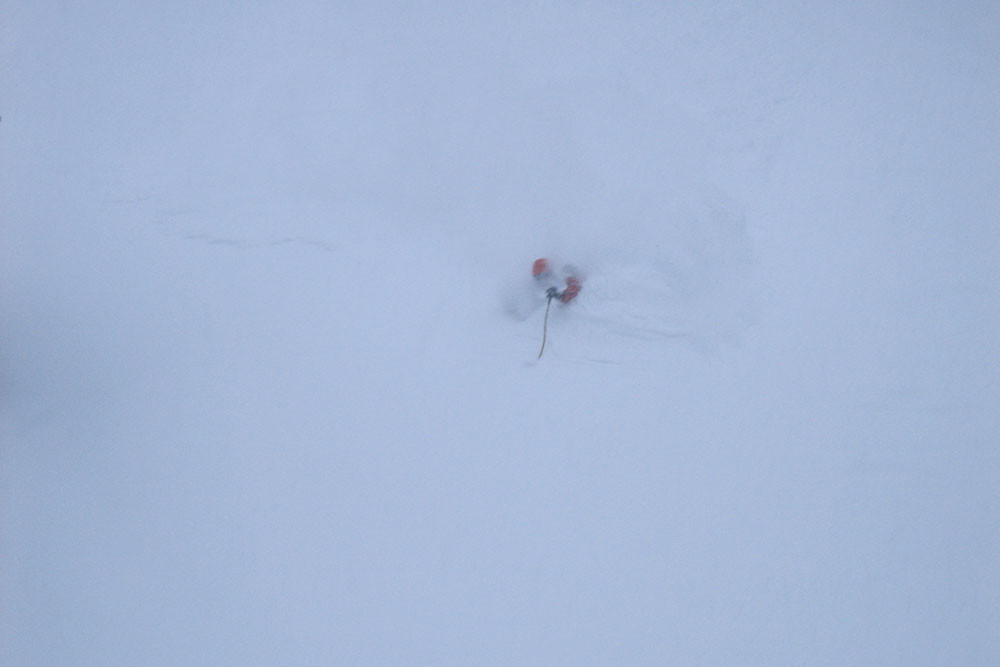 Ryan Soderberg skiing deep powder